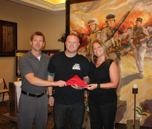 We were presented with the USMC flag that everyone who saw the memorial signed.